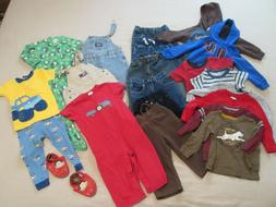 18-24 Months Boys Clothing Mixed Lot-21 Pieces Fall Winter -
