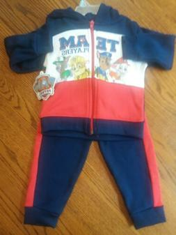 Nickelodeon 2 pc Hoodie Paw Patroll Baby Sz 24mths Pullover