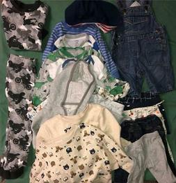 21 pc LOT baby boy clothes~mostly 3 mos to 9 mos~18 mos~4T