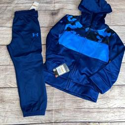 Under Armour 2T 3T 4T Blue Camo Zip Hoodie Joggers Outfit Se