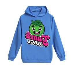4-12 years old Guava Juice cotton boy hoodie T-shirt kids to