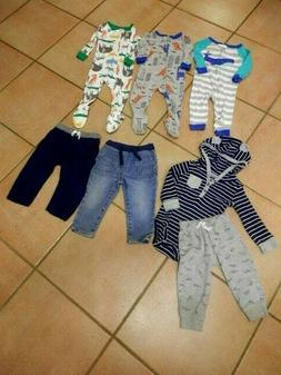 8 Piece Lot-Infant Childs Toddler Boy Cool Cold Weather Clot