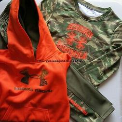 BOYS 4T UNDER ARMOUR TRACK PANTS ~ HOODIE ~ CAMO REALTREE ~