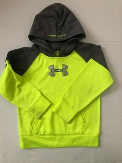 Under Armour Boys Hoodie Size 6 neon yellow