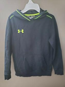 Under Armour Boys Hoodie Youth Size Medium Black Pullover Sw