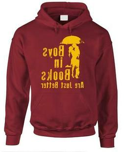 BOYS IN BOOKS ARE JUST BETTER - Fleece Pullover Hoodie