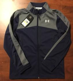 Under Armour Boys Loose Fit  Full Zip Blue Jacket Size Youth