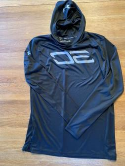 Boys Under Armour Size L Youth 18-20 Hoody Pullover Black