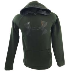 Under Armour Boys Size Large YLG Loose Green Pullover Hoodie