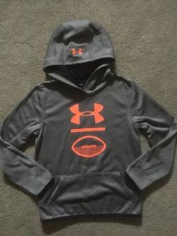 Boys Under Armour Sz. Youth Large Loose ColdGear Gray Hoodie