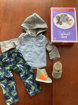 """AMERICAN GIRL CAMO COOL OUTFIT BOY CLOTHING 4 18"""" DOLL SHOES"""