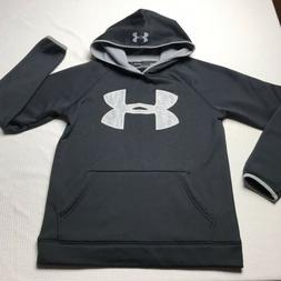 Under Armour Cold Gear Boys Hoddie Size YLG Black Winter Fal