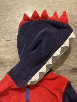 Hanna Andersson Dino Monster Terry Cloth Boys Zip Up Hoodie