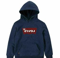 Levi's Boys' Youth Navy Logo Pullover Hoodie Size 7/8