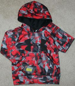 New! Boys Under Armour Printed Logo Hoodie - Size 5