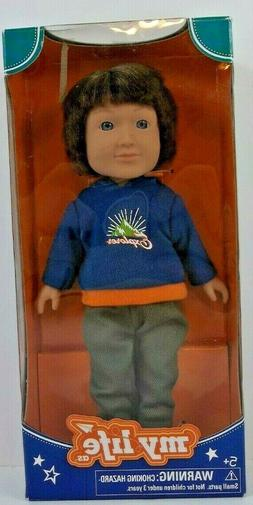 """My Life As Outdoorsy Boy 7"""" Poseable Doll Brown Hair Hoodie"""