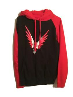Awdis Red And Black Youth  Hoodie Size Small Bird