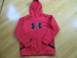 Under Armour Red Hoodie Sweatshirt Size YLG