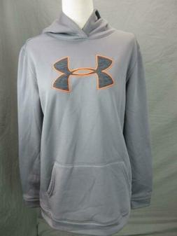 UNDER ARMOUR SIZE XL BOYS GRAY ATHLETIC LOOSE PULLOVER HOODI