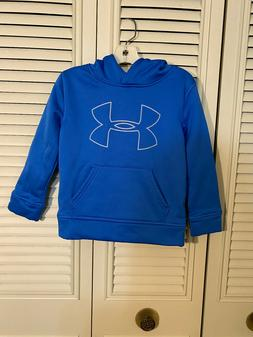 Under Armour Toddler Boys Hoodie Size 4 4T Blue Hooded Sweat