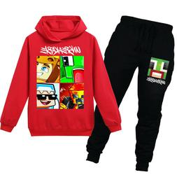 UNSPEAKABLE Boys Spring and Autumn Fashion Hoodie T-shirt Se