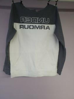 YLG Under Armour Hoodie Sweater White Grey Nice Used Boys 12
