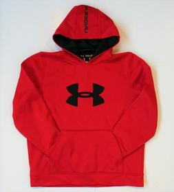Under Armour Youth Boys Loose Fit Pullover Hoodie Big Logo F