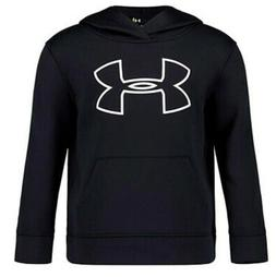Under Armour Youth Boys Pullover Fleece Hoodie Black Size 7