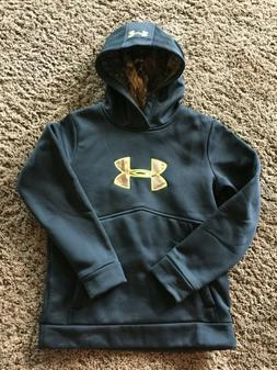 Youth Medium Under Armour Hoodie Black/Camouflage Loose Fit