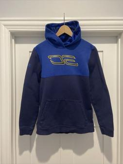 Youth Under Armour Steph Curry Pullover Blue Hoodie Size You